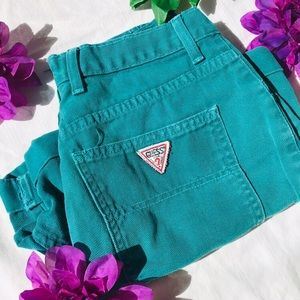 Vintage 90s guess High Waist denim shorts